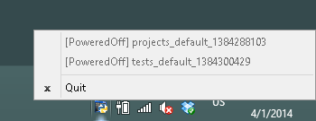 Screenshot of VirtualBoxAutoShutdownTray